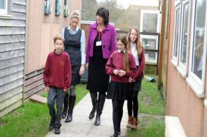MP joins in celebrations of success at village school